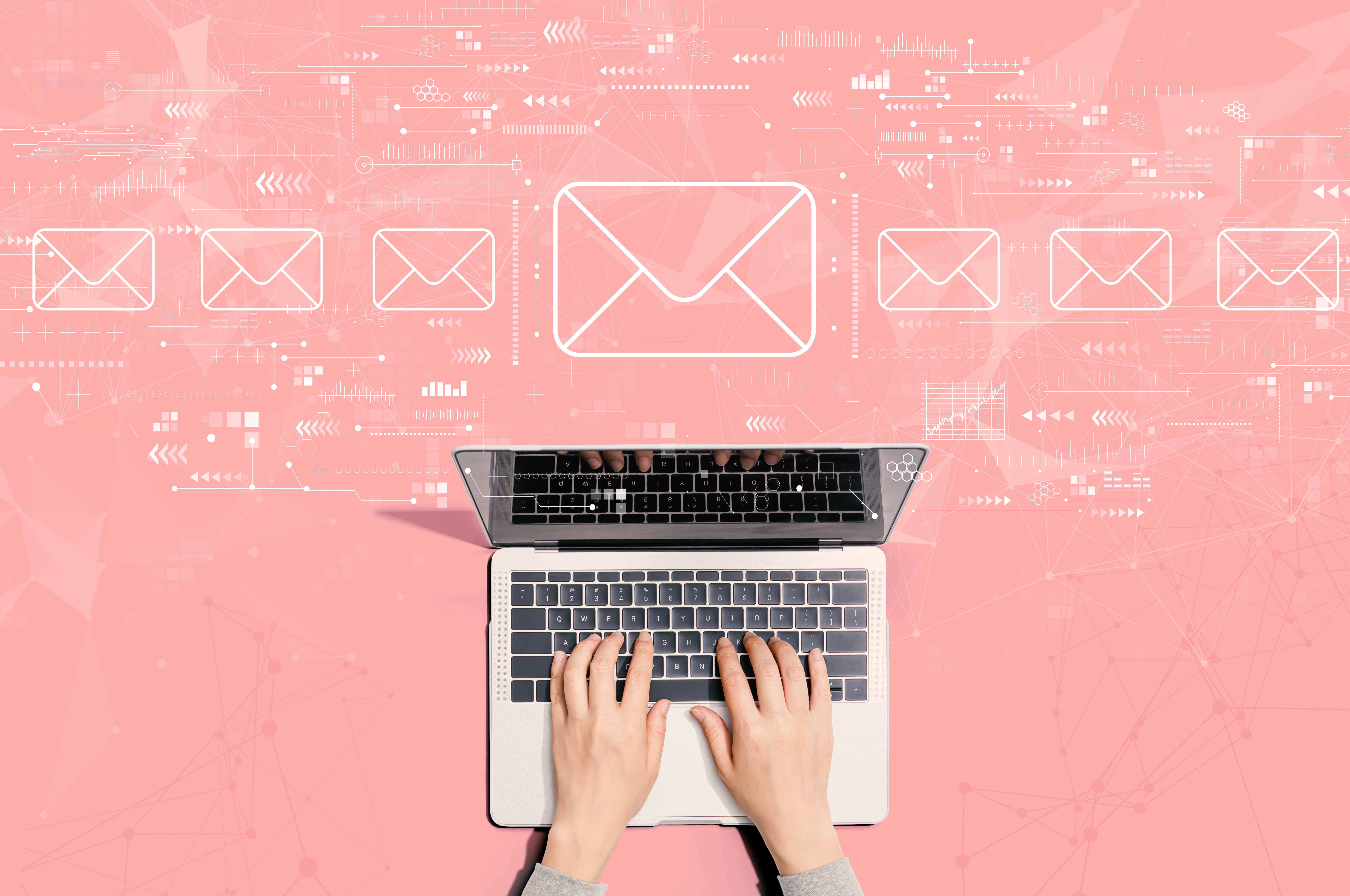 email with laptop